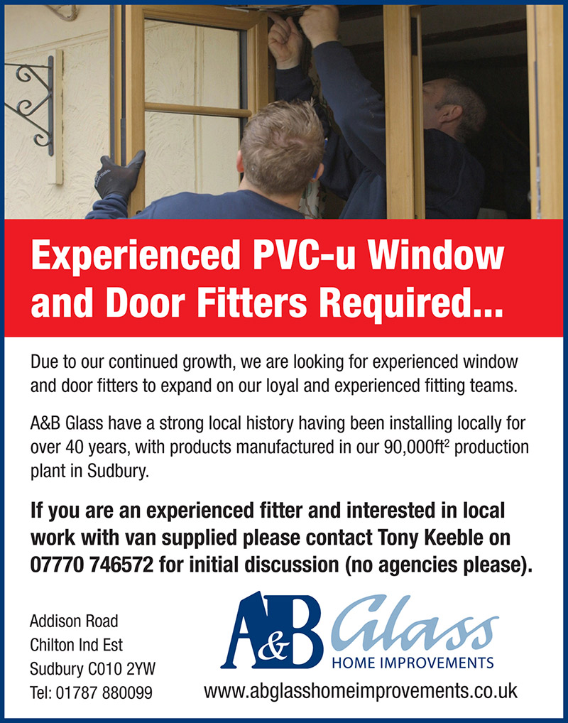 A&B Glass - Experienced PVC-u Window and Door Fitters Required
